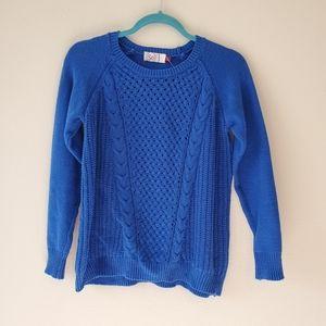 Sonoma Heritage Blue Sweater Crew Neck Long Sleeve